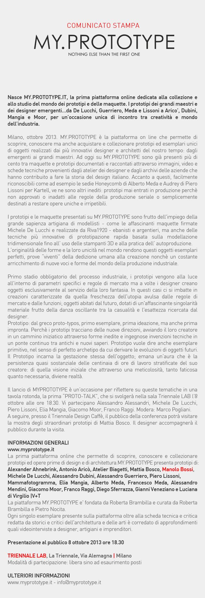 Comunicato Stampa ITA 04.10.2013