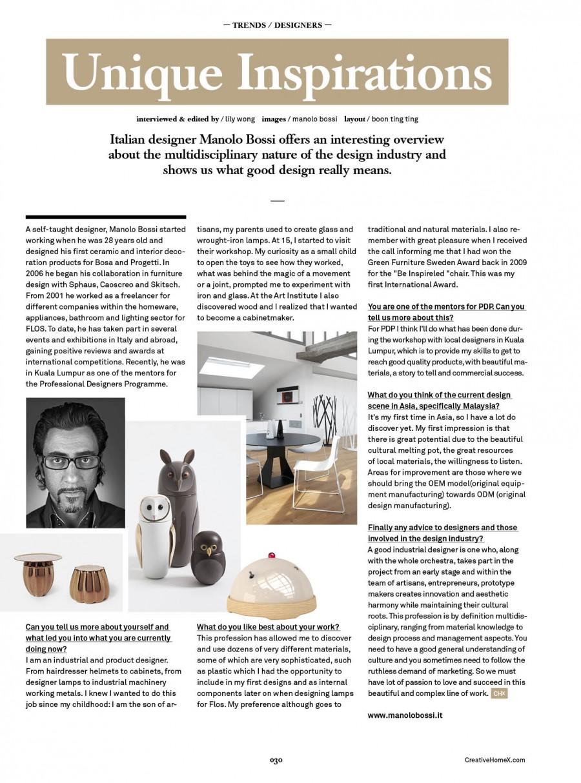 Malaysian design magazine  - CH